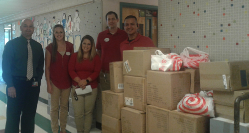 Photo of donations from Target